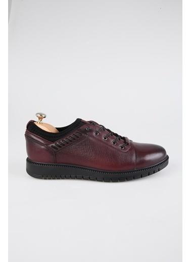 Tripy Hakiki Deri Sneakers Bordo